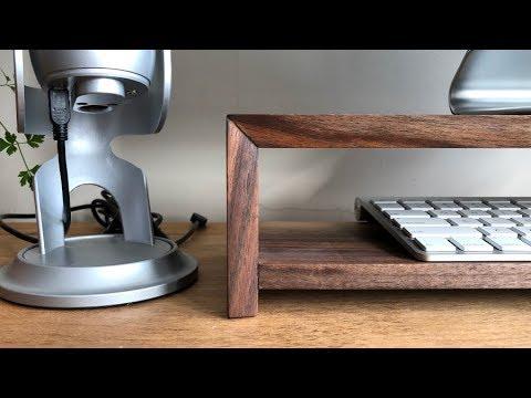 Making a Waterfall Shelf | DIY Walnut Monitor Stand