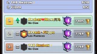 ¡Soy el Top 1 y Top 3 del mundo en Clash Royale!! 😱🔥 +7800 Copas! 🏆   Clash Royale -Anaban CR