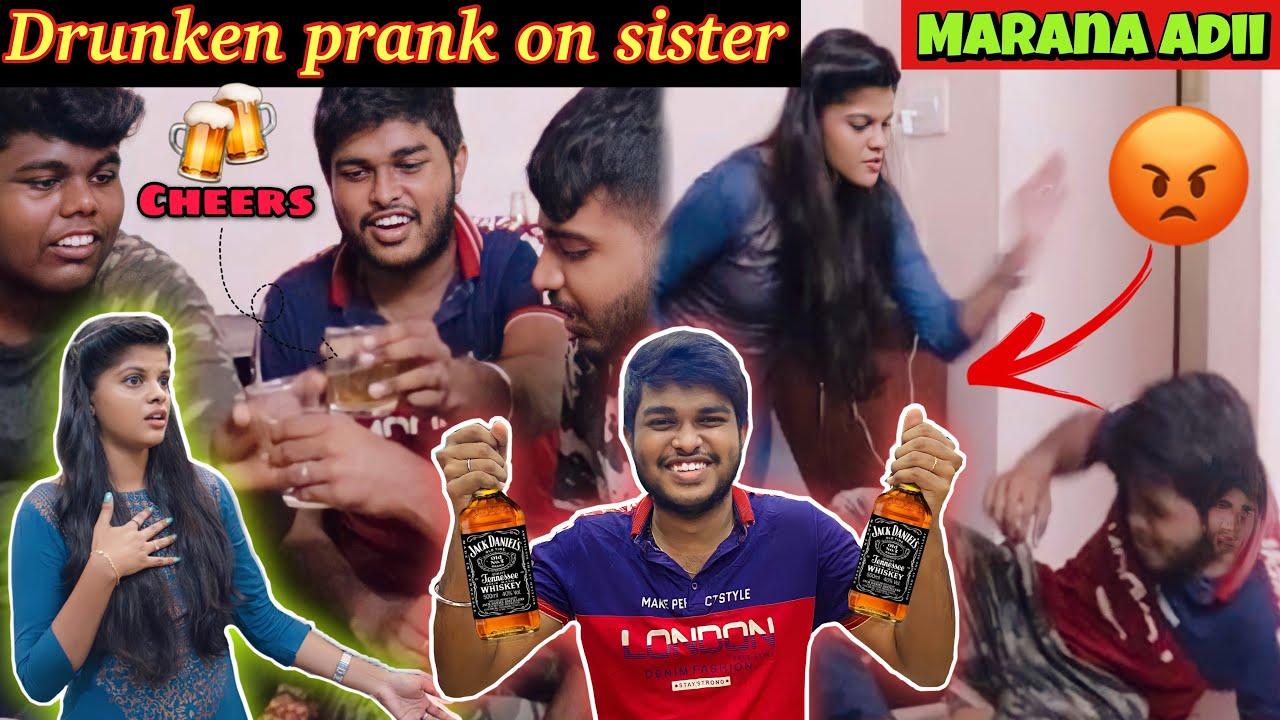 DRUNKEN PRANK ON SISTER!*Marana Adii*😂🤣 | She Got Angry🤯 | Jenni's Hacks