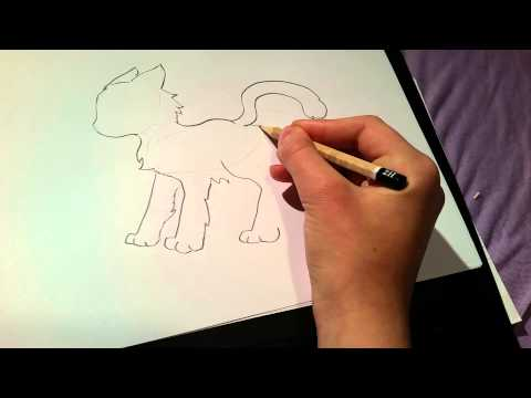 Comment dessiner un chat facile youtube - Chat facile a dessiner ...