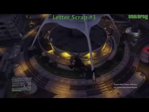 GTA 5 - PS3 - 50 Letter Scraps Guide (Complete)