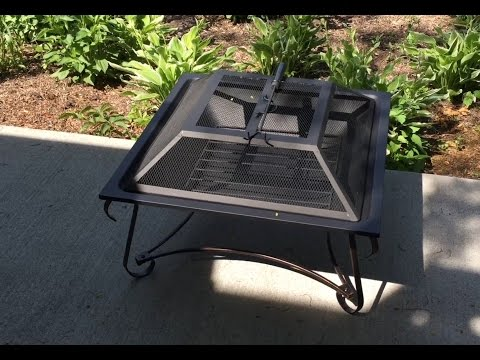 """Hamilton 30"""" square steel outdoor patio home steel wood burning Fire Pit Bowl review"""