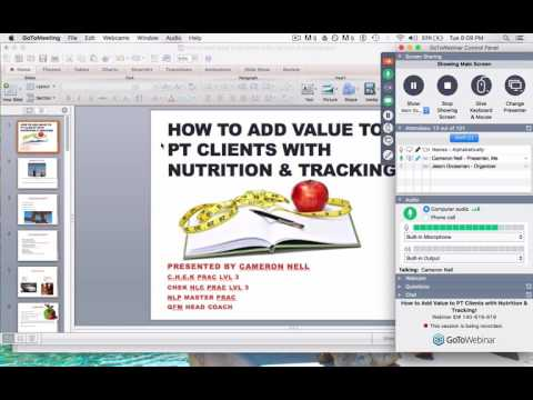 adding value with nutrition & tracking