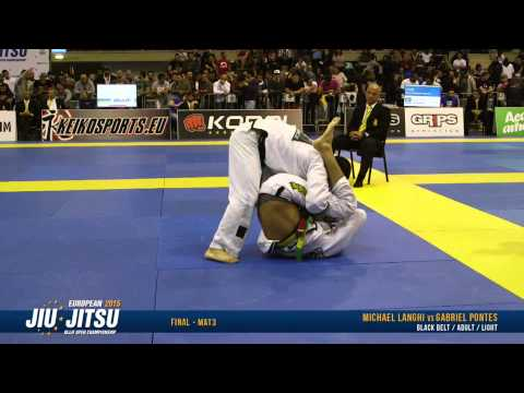 European Open 2015 Black Belt FINALS: Adult Male - Light (Michael Langhi vs. Gabriel Pontes)