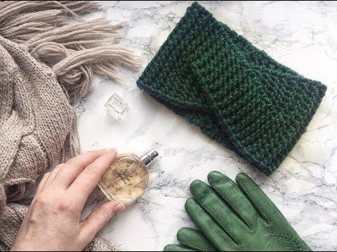 Как связать повязку спицами