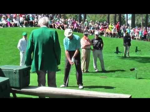 Jack Fleck, aged 92, playing the Par 3 course at the Augusta National.