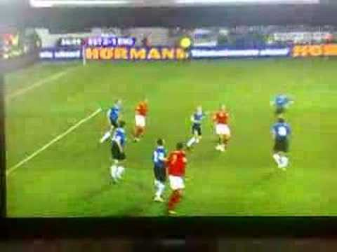 Estonia V England 2007 - Joe Cole Goal - 37th Minute