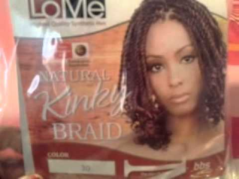 Hair Review Lome Natural Kinky Braiding Hair Youtube