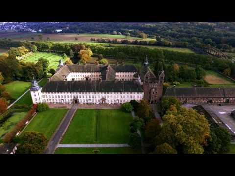 Flying over Schloss Corvey (Germany)