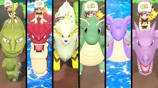 All SHINY Riding Pokémon in Pokémon Let's Go Pikachu & Eevee