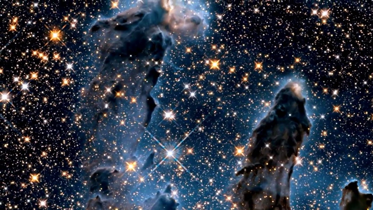 Eagle Nebula Exposed in New Hubble Infrared View   Video ...