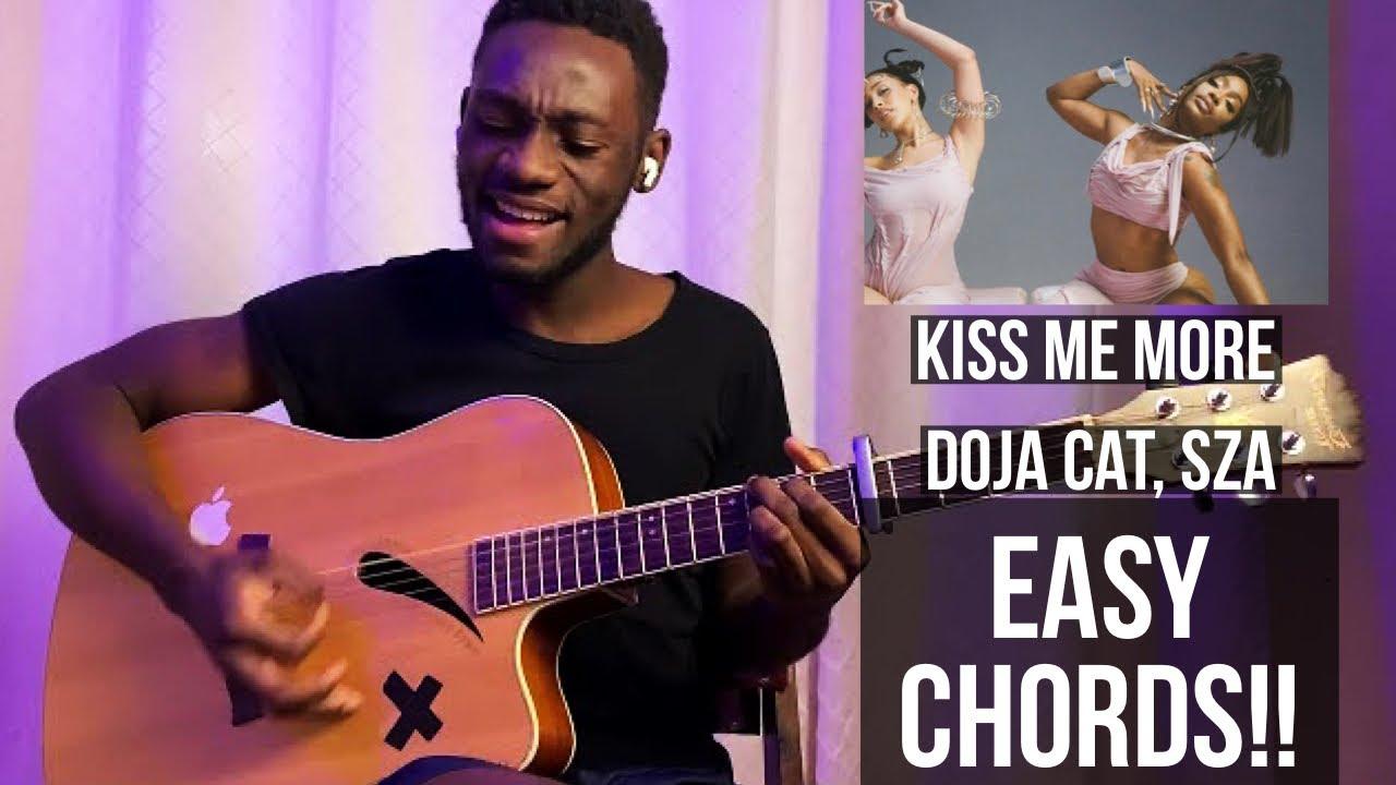 Kiss me more ~ Doja cat, SZA   full guitar tutorial   easy chords +  fingerpicking