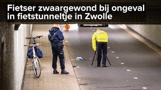 Fietser zwaargewond bij ongeval in tunneltje Ceintuurbaan Zwolle - ©StefanVerkerk.nl