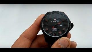 Оригінальні годинник Naviforce 9061 NF9061M red огляд, інструкція російською, налаштування, відгуки
