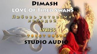 Dimash/Studio ~ 💖Of Tired Swan - Любовь уставших лебедей ( Lyrics/текст песни/ сөзі/лирика)
