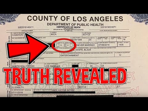 Cameron Boyce Death Certificate Officially Leaked    - YouTube