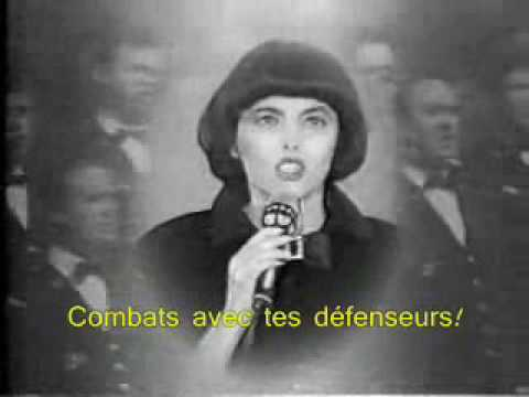 Mireille Mathieu singing La Marseillaise (with lyrics)