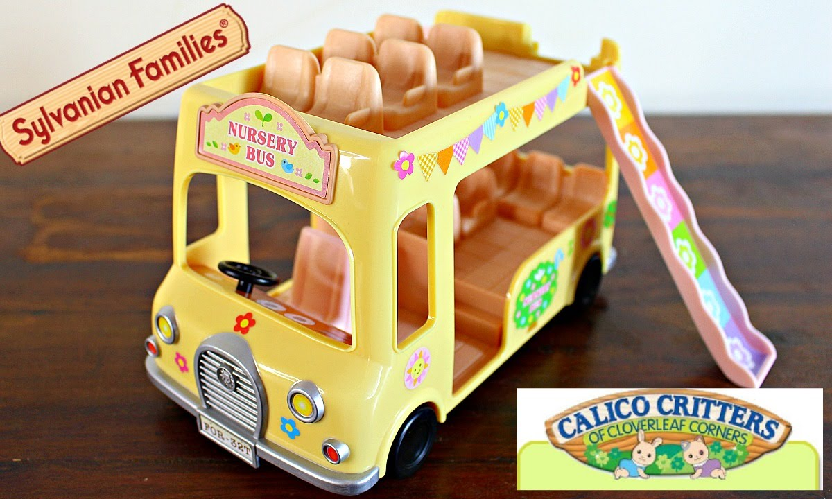 Sylvanian Families Calico Critters Nursery Double Decker Toy Review You