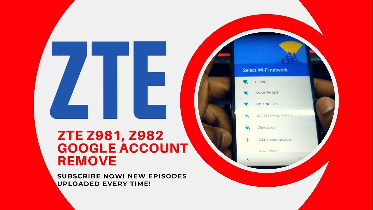 REMOVER CUENTA GOOGLE ZTE Z981, Z982