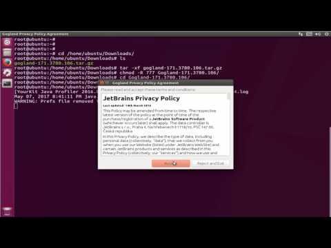 How To install JetBrains Gogland Go IDE in ubuntu 17 zesty zapus