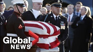 Body of George H.W. Bush arrives in Maryland ahead of state funeral