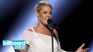 Pink Gets Emotional Performing 'Wild Hearts Can't Be Broken' at 2018 Grammys   Billboard News