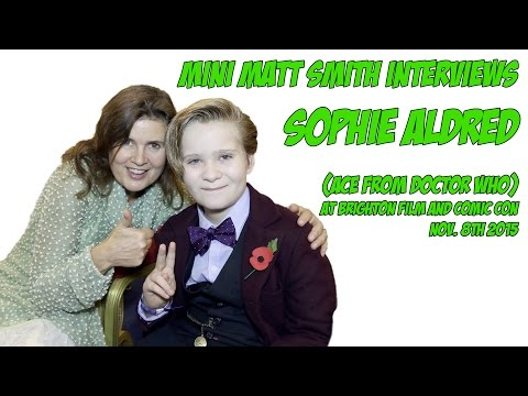 Sophie Aldred EXCLUSIVE  by Mini Matt Smith