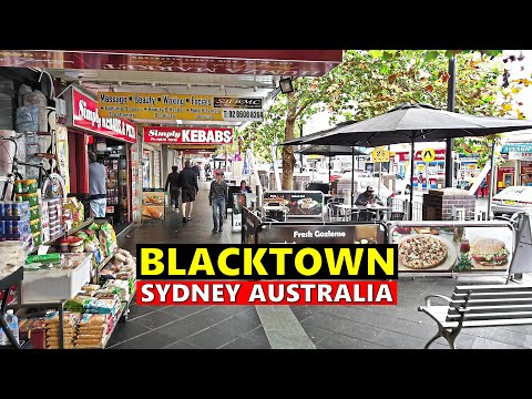 BLACKTOWN City Centre SYDNEY Australia Walking Tour
