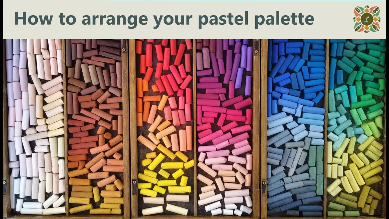 How to arrange your pastel palette  YouTube