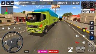 IDBS Indonesia Truck Simulator | Trailer Truck Trip to Surabaya screenshot 5