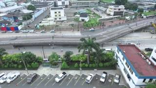 Drone video captures collapsed bridge after earthquake in Ecuador