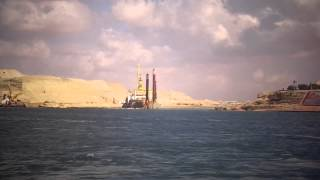 قناة السويس الجديدة مصر: الكراكة سيريوس تدخل قناة السويس الجديدة وتبدأ التكريك
