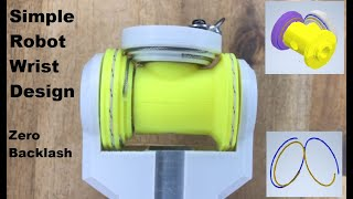 3D Printed Robot Wrist Semi-differential