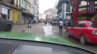 havana habana cuba taxi ride with a nice old cuban that still has the moves