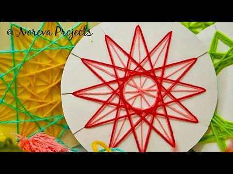 DIY Christmas Tree Ornaments | DIY Yarn Stars | String Art Ideas for Christmas #christmascraft