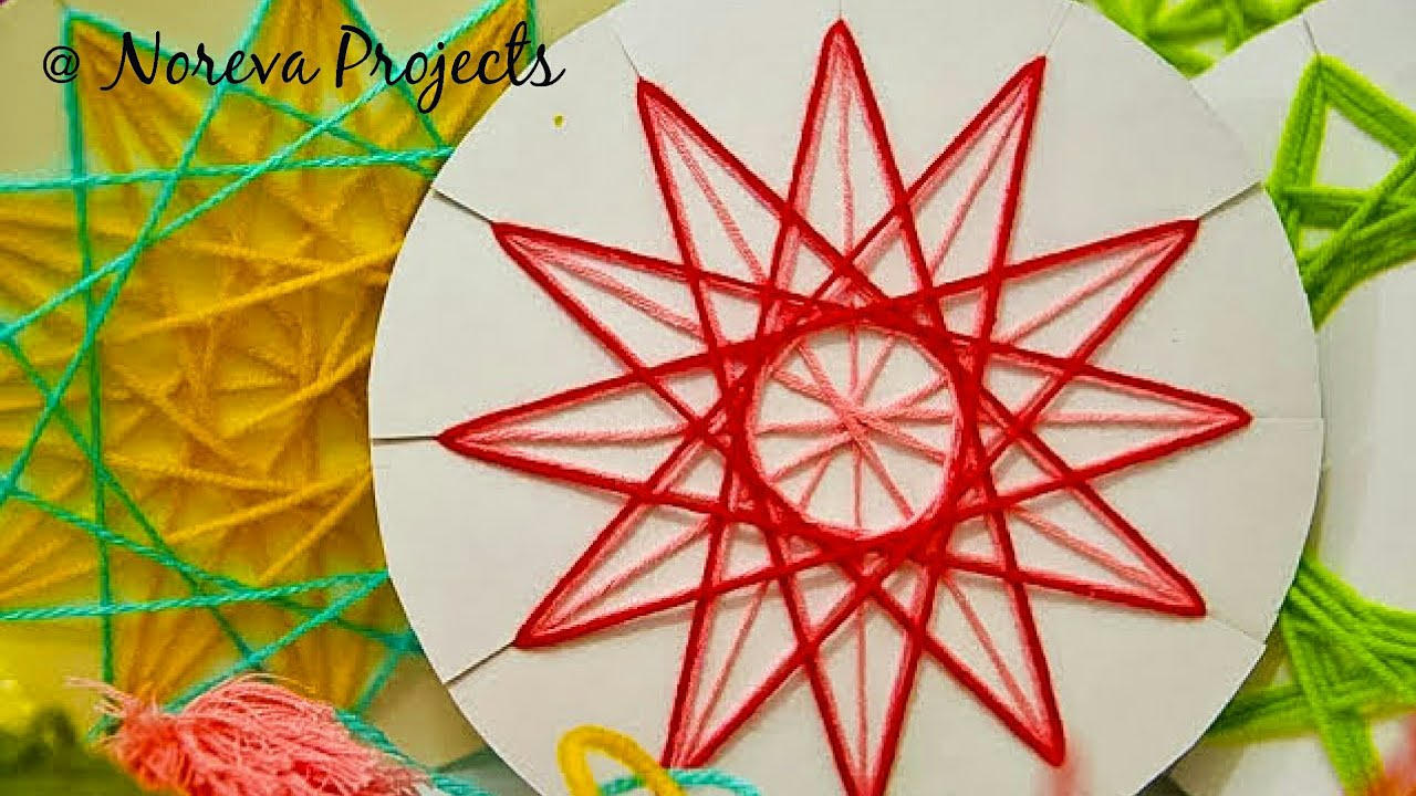 Diy Christmas Tree Ornaments Diy Yarn Stars String Art Ideas For