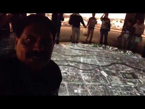 At Japan Hiroshima Peace Memorial Museum. The video model of  Hiroshima first Atom bomb  dropped eve