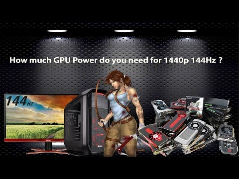 How Much GPU Power do you need for the best 1440p 144Hz Experience ?