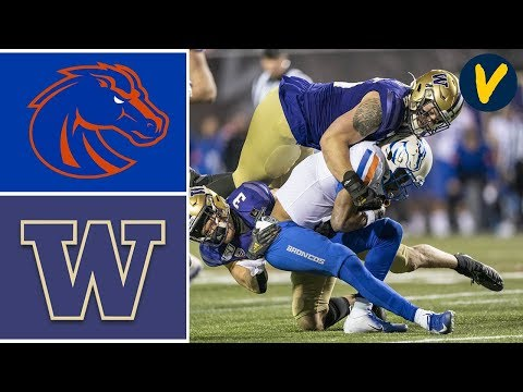#19 Boise State Vs Washington Highlights | 2019 Las Vegas Bowl | College Football