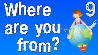 """Урок 9. Английский для детей. Учимся задавать вопрос """"Откуда ты""""?"""