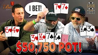 """INSANE BLUFFS - The """"WILDEST MAN IN POKER"""" is Back! ♠ Live at the Bike!"""