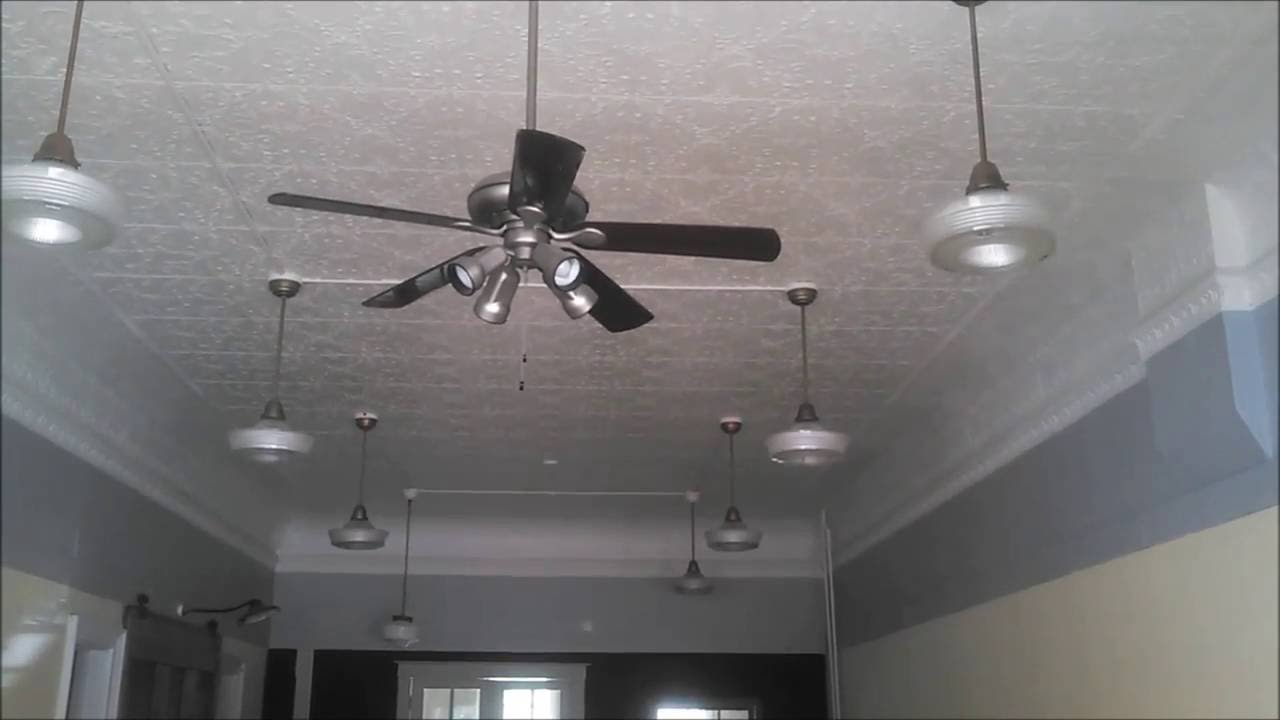 Vintage Light Fixtures and newer H&ton Bay? Ceiling Fan in an abandoned storefront (FULL) & Vintage Light Fixtures and newer Hampton Bay? Ceiling Fan in an ... azcodes.com