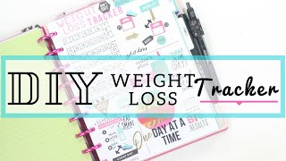DIY Weight Loss Tracker 🏃‍♀️〰️ In Depth How To | Fitness Planner| At Home With Quita