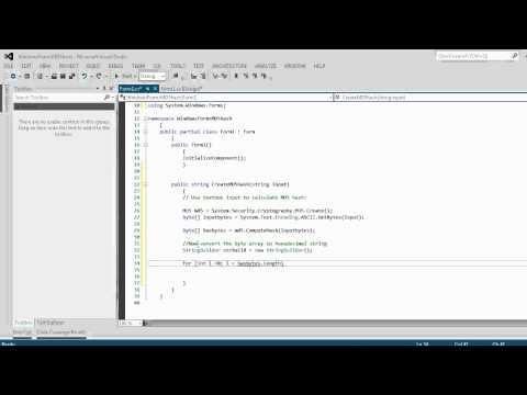 C# Tutorial 3: CSharp Create a md5 Hash Generator Text Coding tool (Beginners)