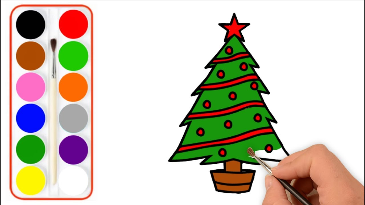 how to draw a christmas tree draw christmas things for kids baby