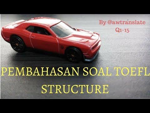 TOEFL Structure ITP Pembahasan 1 Q1-Q15 Indonesia