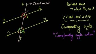 Angles, parallel lines, &amp transversals (Hindi)