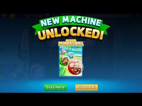 Super Monkey Ball slot machine unlocked on SEGA Slots (mobile)