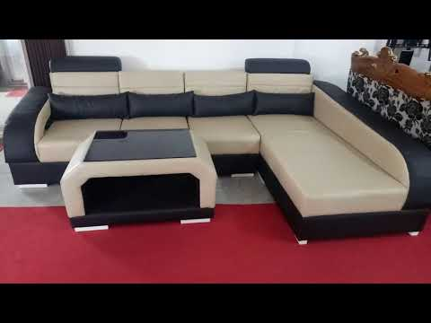 Unboxing new artificial leather sofa by Furniture Mela