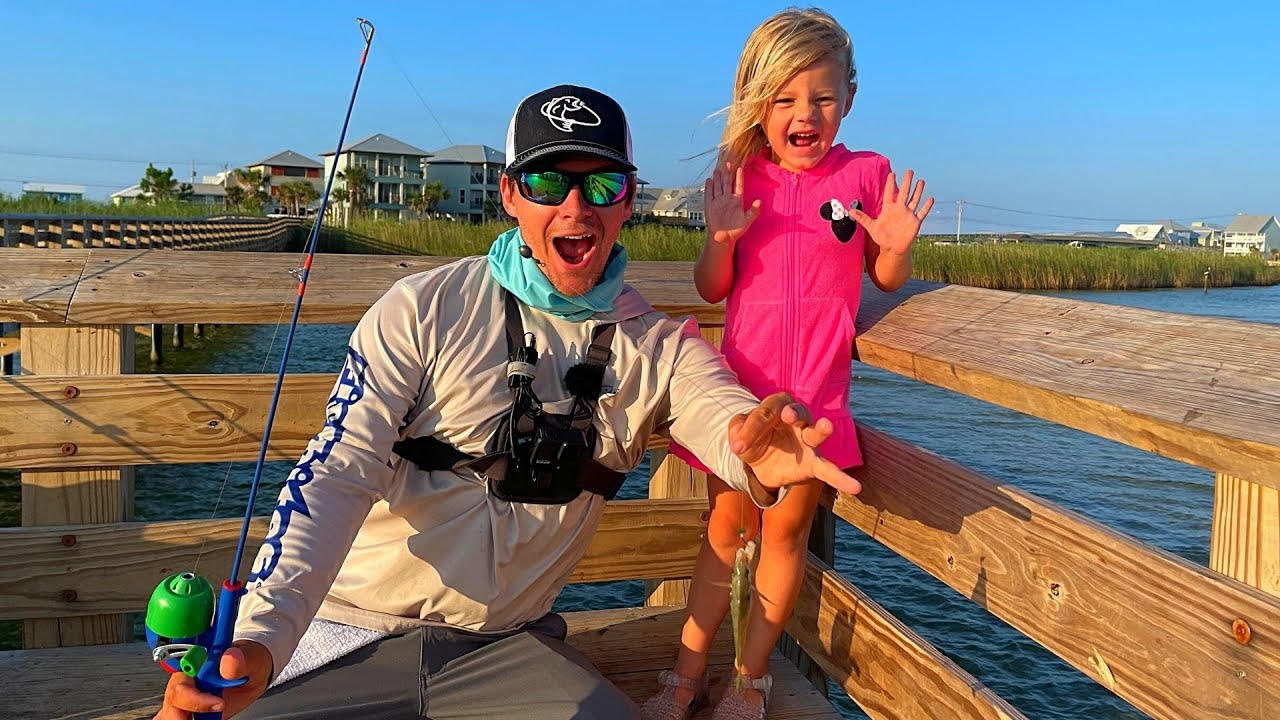 Three Year Old CRUSHES Fish with Toy Rod!